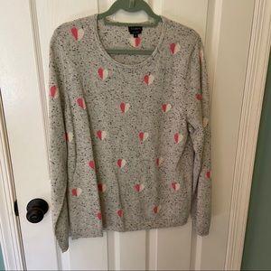 Talbots cashmere heart love sweater